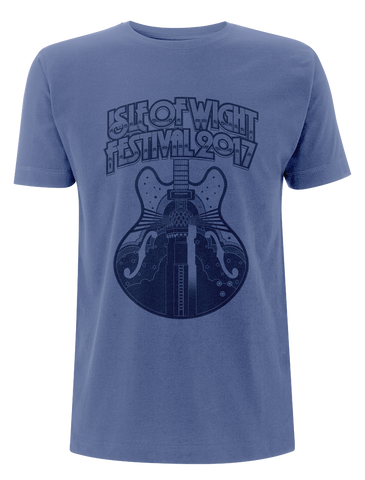 '2017 Guitar Mono' Blue T-Shirt