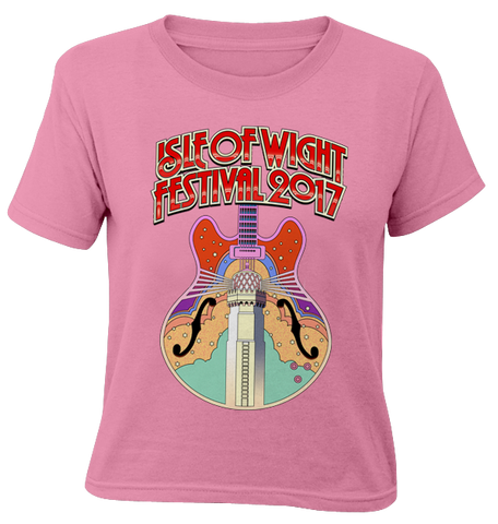'2017 Guitar Colour' Kids Pink T-Shirt