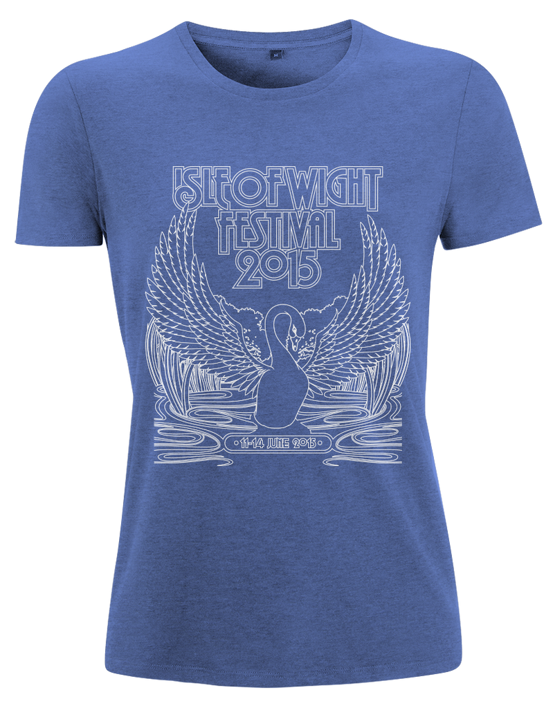 '2015 Swan Outline Event' Ladies Heather Royal T-Shirt