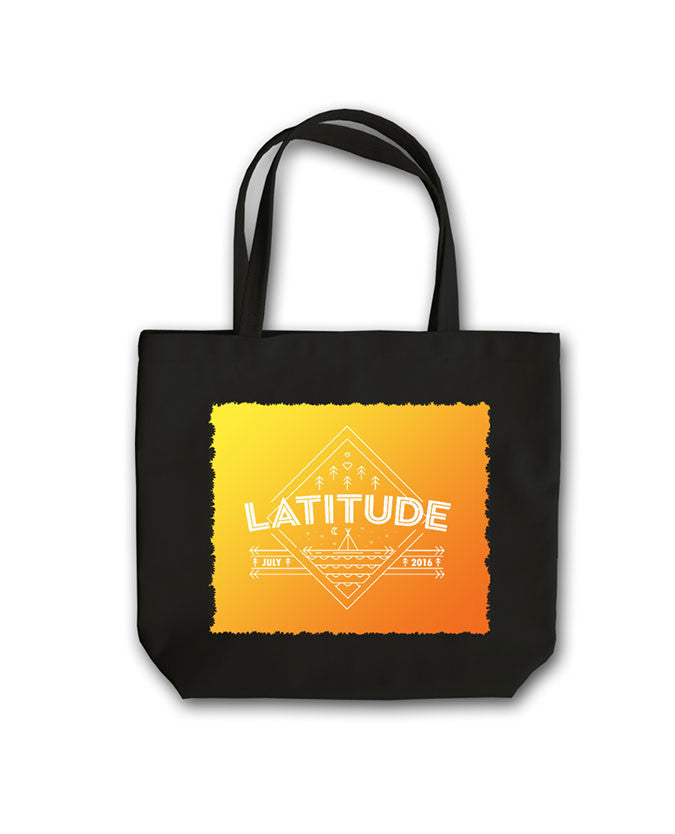 Latitude 2016 'Diamond Landscape' Black Tote Bag