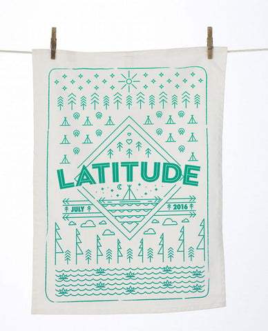 Latitude 2016 'Diamond Landscape' White Tea Towel