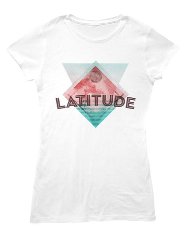 'Hexagonal Shapes Event 2016' Ladies White T-Shirt