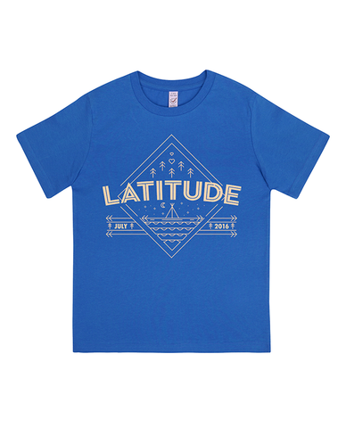 'Diamond Landscape 2016' Royal Blue Kids T-Shirt