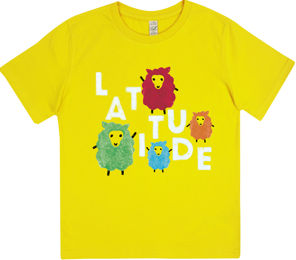 'Party Sheep Event 2017' Kids Daisy Yellow T-Shirt