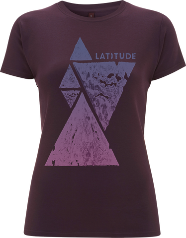 'Stacked Triangles Event 2017' Ladies Eggplant T-Shirt
