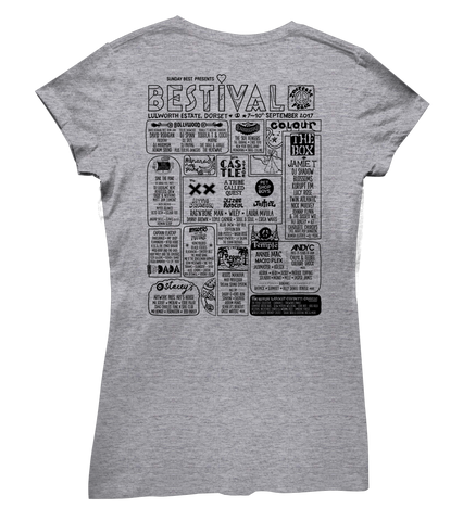Bestival 2017 (I Heart Bestival Event) Sports Grey Ladies T-Shirt