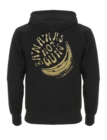 Bestival (Bananas Not Guns) Black Zipped Hoodie
