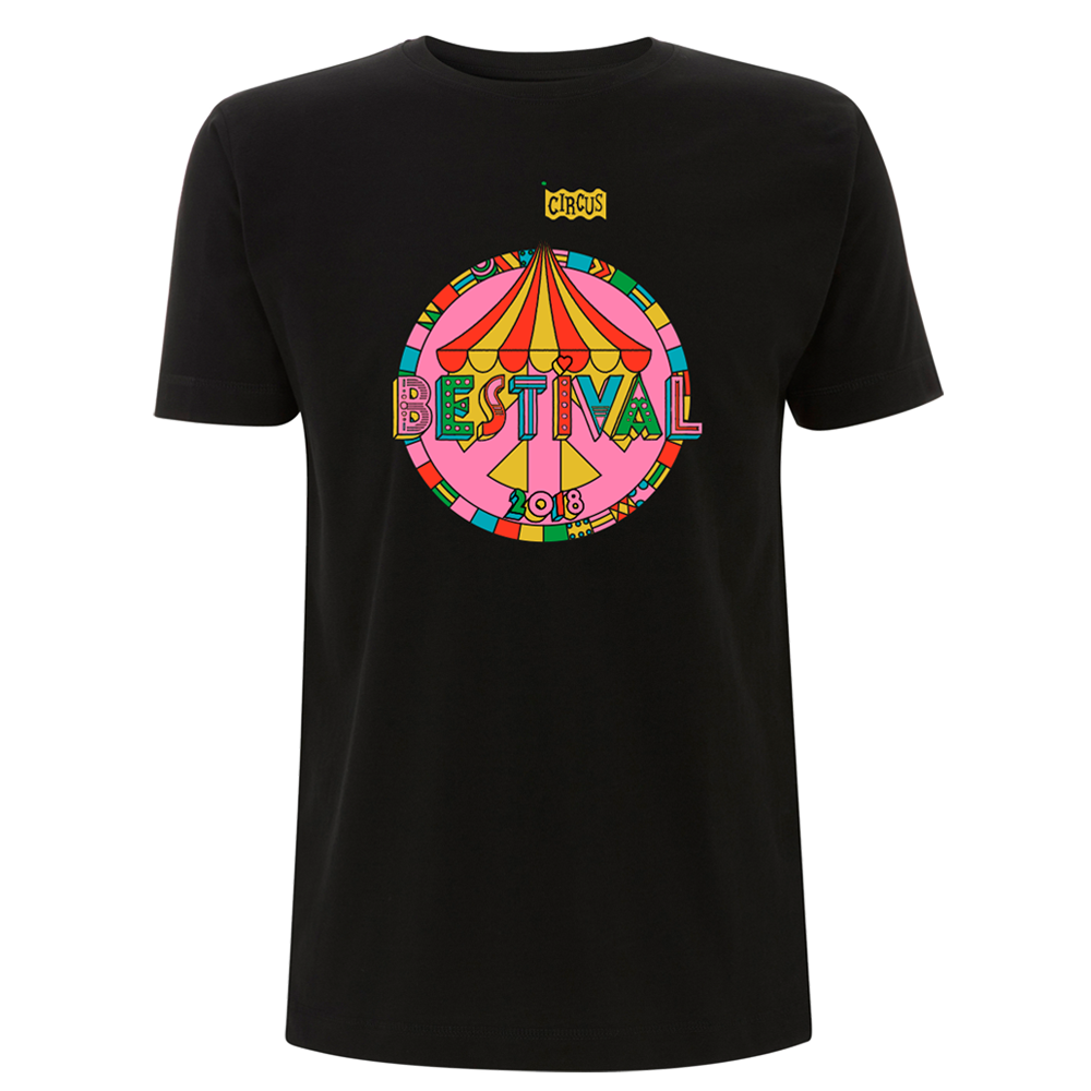 Bestival 2018 (Big Top Event) Black T-Shirt