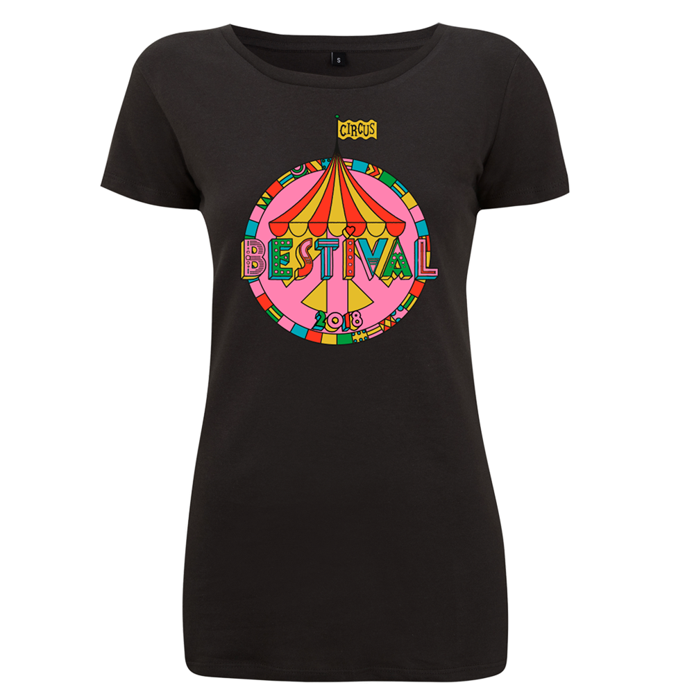 Bestival 2018 (Big Top Event) Black Ladies T-Shirt