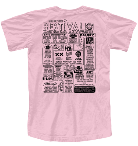 Bestival 2017 (I Heart Bestival Event) Light Pink T-Shirt