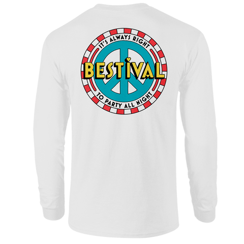 Bestival 2018 (Circus Podium) White Long Sleeve T-Shirt