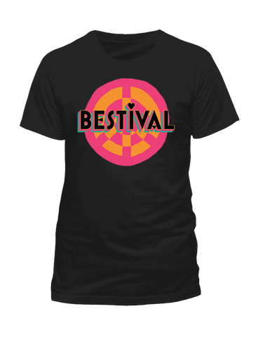 Bestival 2015 (Peace Sign Event) Black T-Shirt