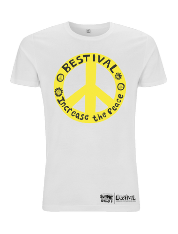 Bestival (Increase The Peace) White T-Shirt