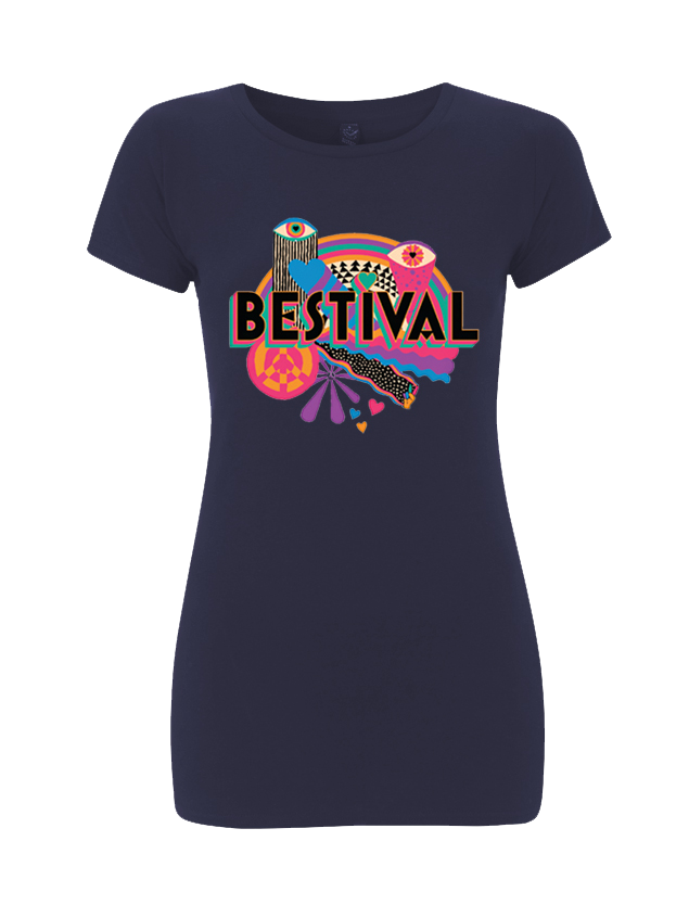Bestival 2015 (Psychedelic Event) Navy Ladies T-Shirt