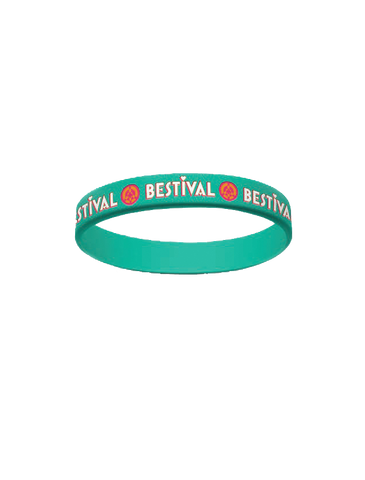 Bestival (Logo) Teal Wristband