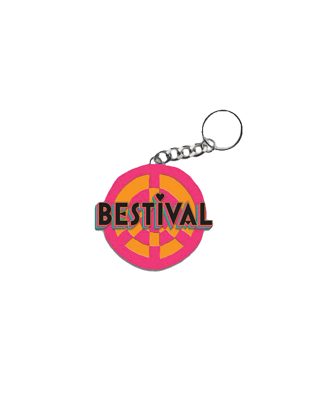 Bestival (Peace Sign) Keyring
