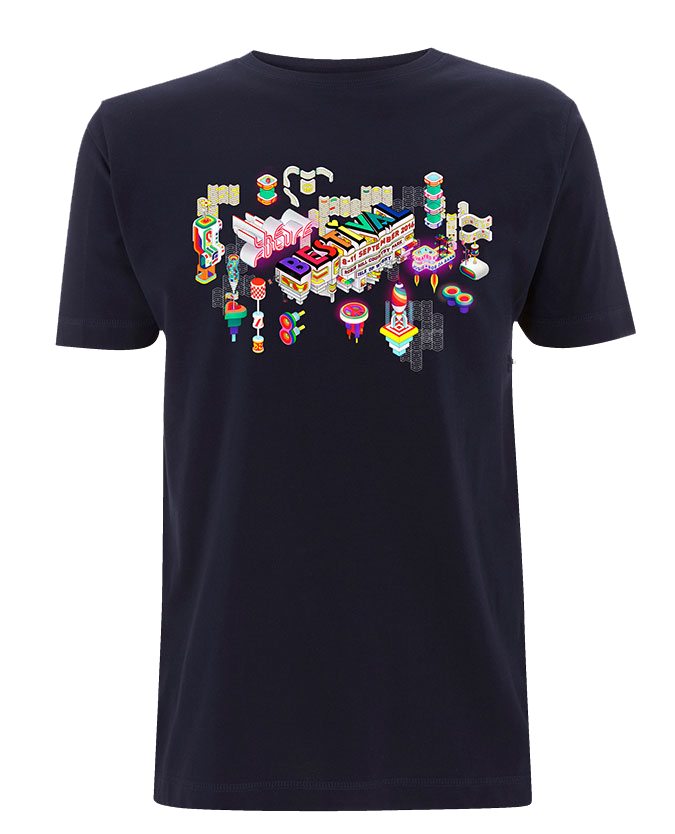 Bestival 2016 (Space Elements Event) Navy T-Shirt
