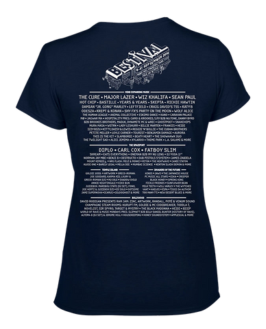 Bestival 2016 (Space Elements Event) Navy Ladies T-Shirt