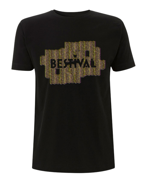 Bestival 2016 (Space Walls) Black T-Shirt
