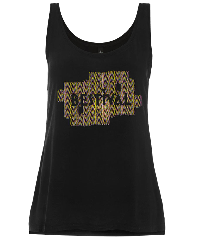 Bestival 2016 (Space Walls) Black Ladies Vest
