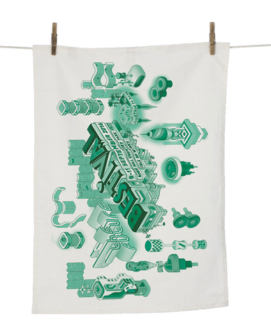 Bestival (Space Elements) Tea Towel