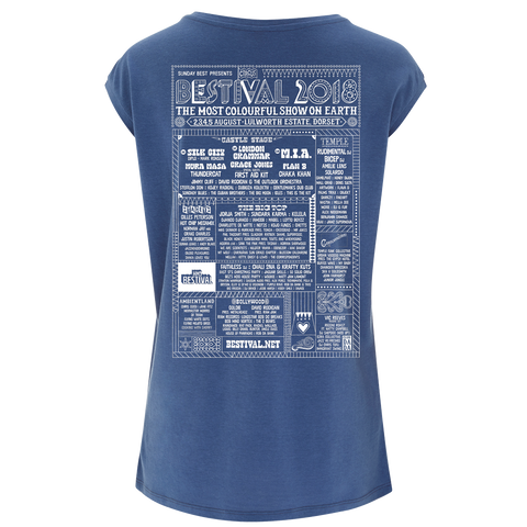 Bestival 2018 (Let's Go Dancing) Blue Ladies T-Shirt