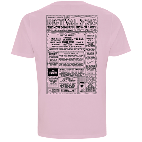 Bestival 2018 (Let's Go Dancing) Pink T-Shirt