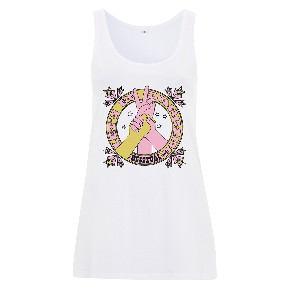 Bestival 2018 (Let's Go Dancing) White Ladies Vest