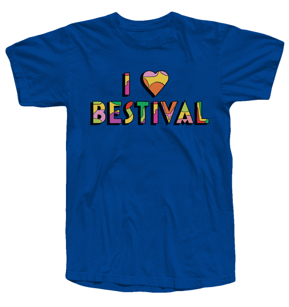 Bestival 2017 (I Heart Bestival Event) Royal Blue T-Shirt