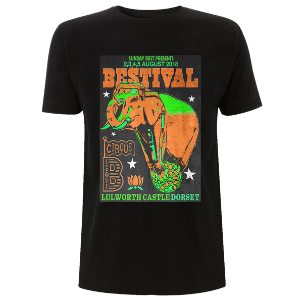 Bestival 2018 (Indian Circus) Black T-Shirt