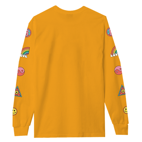 Bestival (Peace) Sunshine Yellow Longsleeve T-Shirt