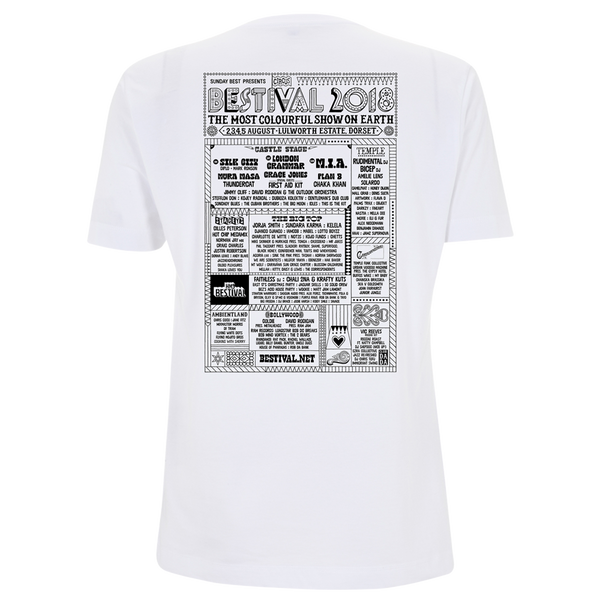 Bestival 2018 (Indian Circus) White T-Shirt