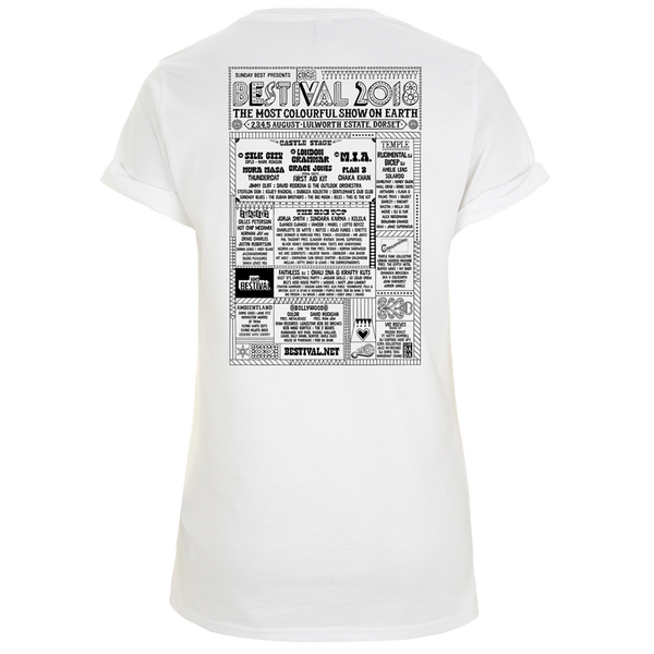 Bestival 2018 (Bollywood) White Ladies T-Shirt