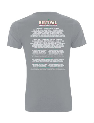 Bestival 2015 (Psychedelic Event) Sports Grey T-Shirt