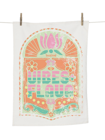 Bestival 2018 (Bollywood) White Tea Towel