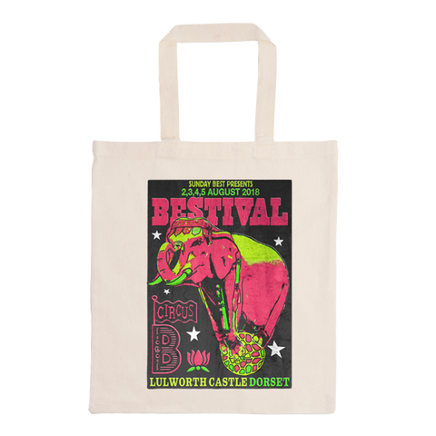 Bestival 2018 (Indian Circus) Natural Tote Bag