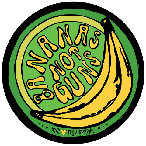 Bestival (Bananas Not Guns) Patch