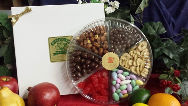 Extra Large Six Pocket Fruit and Candy Gift Tray