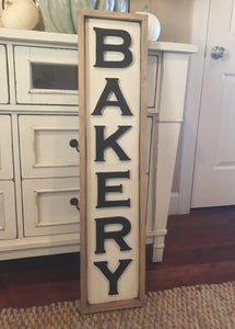 Bakery Sign, Farmhouse Wood Sign, Wood Bakery Sign, Distressed Wood Sign, Bakery, Kitchen Decorations
