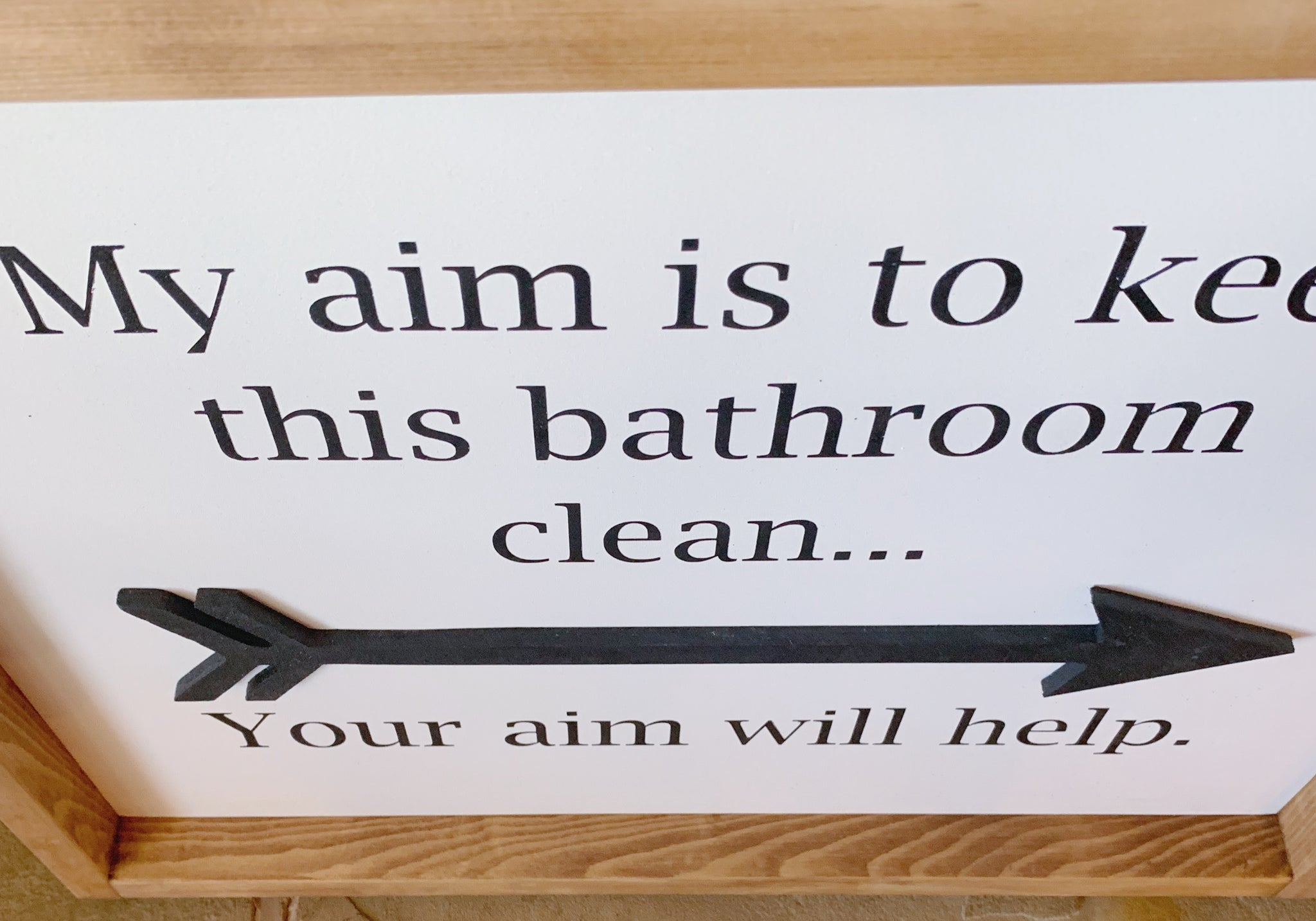 Bathroom Aim Sign Bathroom Decor Bathroom Wall Decor Bathroom Signs Juniper Vale