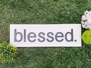 Blessed Wood Sign, Farmhouse Wood Sign, Country Wood Sign, Handmade Sign, Handpainted Wood Sign, Blessed
