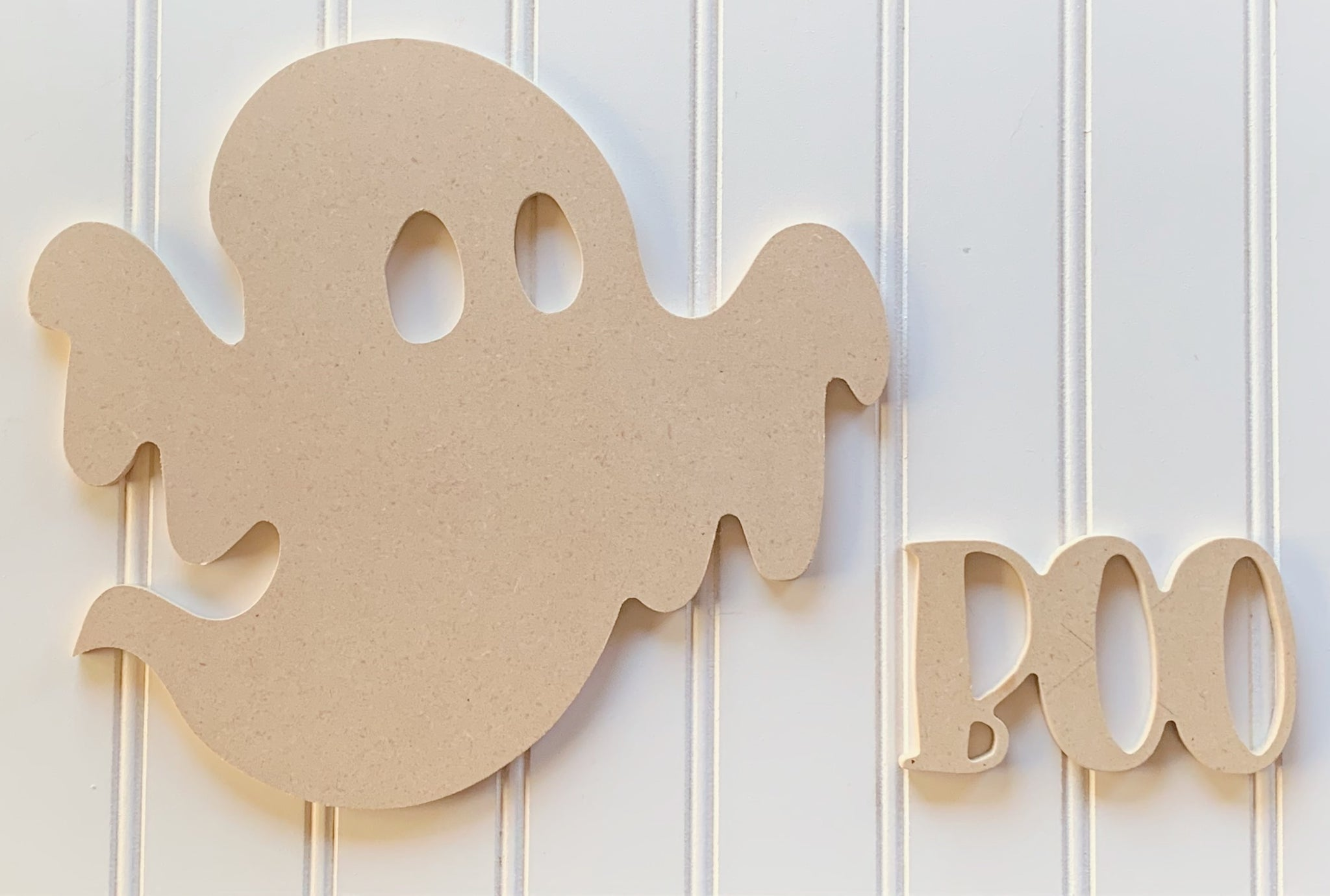 Ghost Craft Sign Kit, Ghost Cutout, Wreath Sign, Unfinished Wood Halloween Cut Out, Halloween Cutout, Wreath Accessory, Halloween Sign