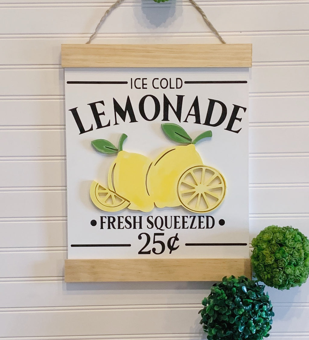 Lemonade Sign, Lemon Sign, Wood Sign, Farmhouse Decor, Country Style, Lemonade Stand