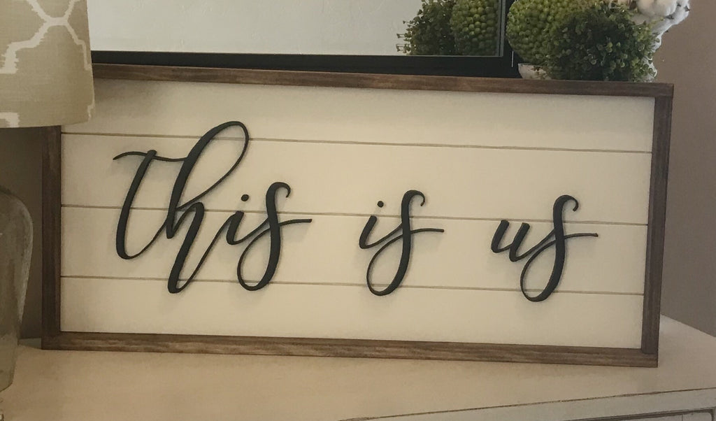 This Is Us 3D Wood Sign, Farmhouse Decor, Farmhouse Sign