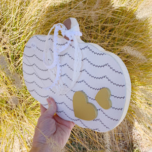 White Wood Pumpkin, Fall Decor, Pumpkin Decor