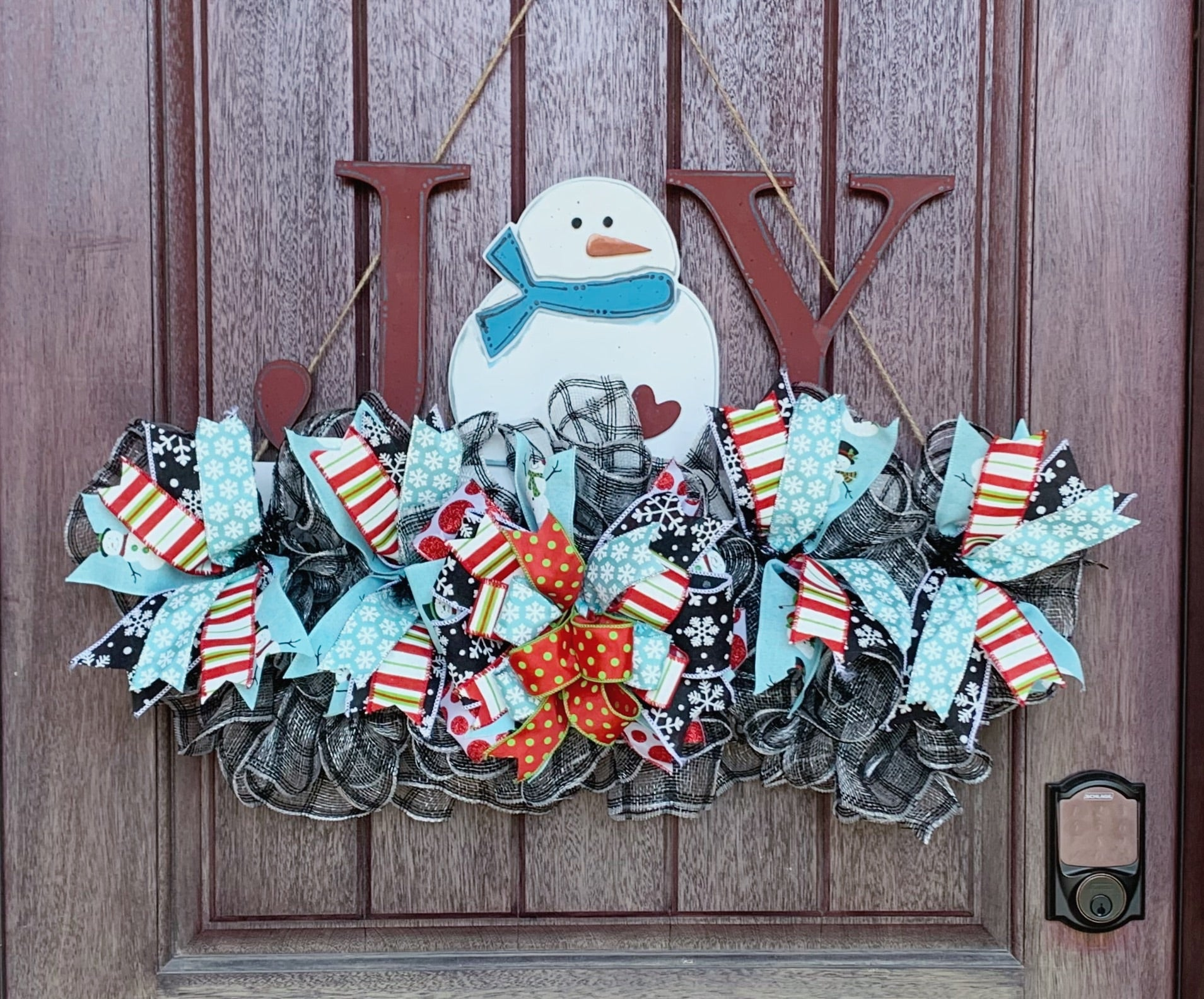 Snowman joy wreath rail, Snowman Wreath, Christmas wreath rail, Front door decor, Christmas wreath