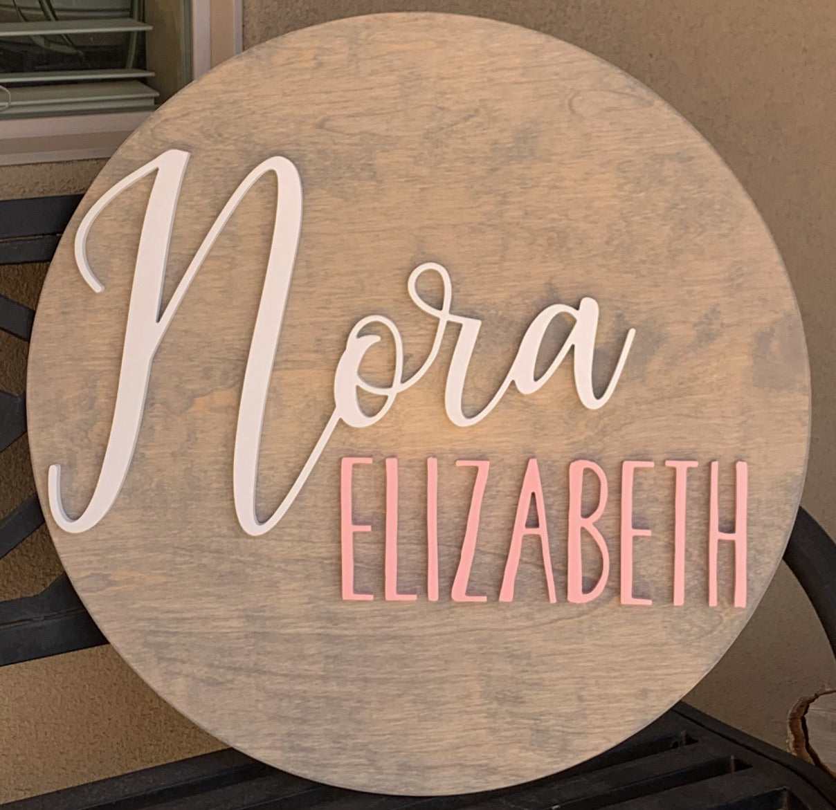 Child's Name Sign, Nursery Sign, Wood Name Sign, Round Name Sign, Custom Name Sign