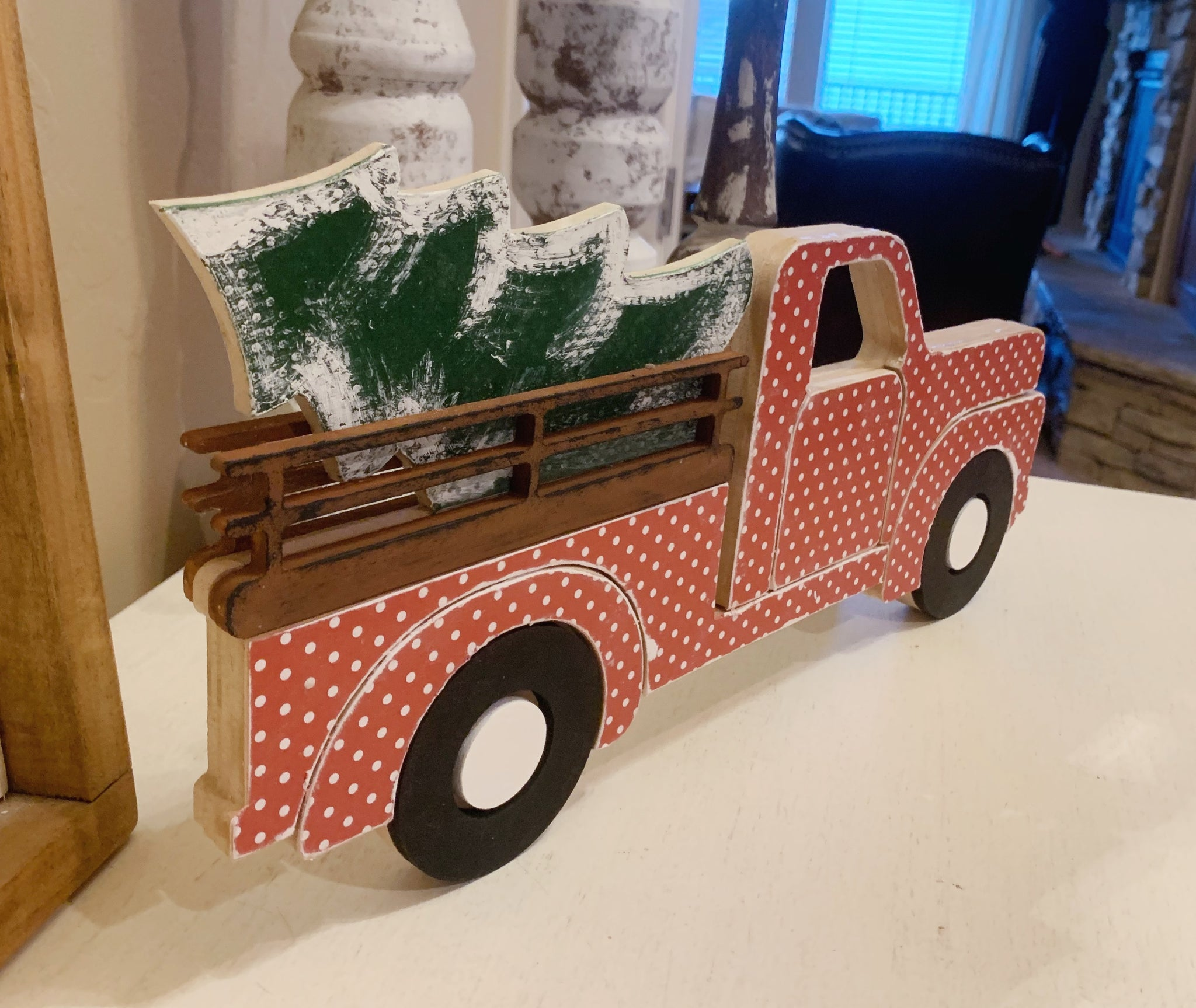 Christmas Truck Wood Cut Out, Wood Cut Out, Christmas Decor, 3D Wood Truck