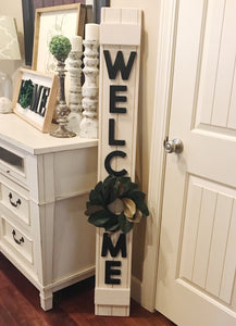 Welcome Leaner, 3D wood sign, Welcome sign, Farmhouse wood sign