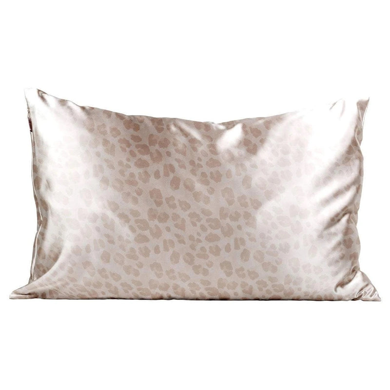 KITSCH: SATIN PILLOWCASE-LEOPARD